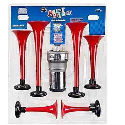 Wolo 417 Long Horns Air Powered Horn 12-Volt 120 Decibels 410//440 Hz