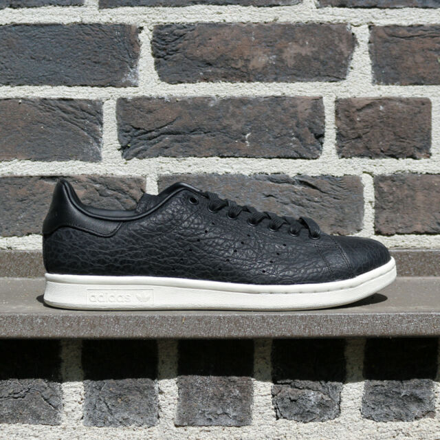 adidas Stan Smith BB0037 Leather Low Men Shoes Sneakers Black Off White NEW 11US