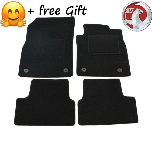 Tailored Black Car Floor Mats Carpets Clip for Vauxhall Astra J MK6 2010-2015