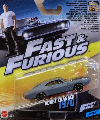 1970 Dodge Charger Dom Fast /& Furious 1:55 Mattel FCF44 FCF35