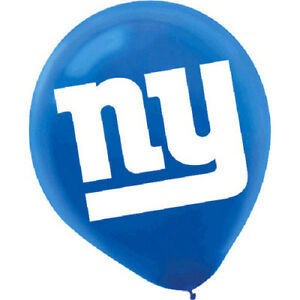 Image Is Loading NFL NEW YORK GIANTS LATEX BALLOONS 6 Birthday