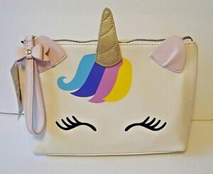 Betsey-Johnson-Unicorn-Cosmetic-Travel-Bag-Case-NWT