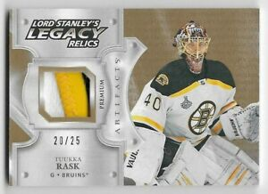 19-20-UD-ARTIFACTS-LORD-STANLEY-039-S-LEGACY-RELICS-PATCH-LSLRTR-Tuukka-Rask-20-25