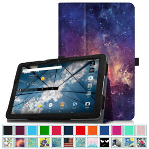 best sneakers 37133 a8f41 Details about For 2017 NEW AT&T Primetime 10-inch Tablet Leather Folio Case  Cover Stand