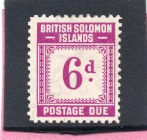 Br-Solomon-Isles-GV1-1940-postage-due-6d-sg-D6-VLH-Mint