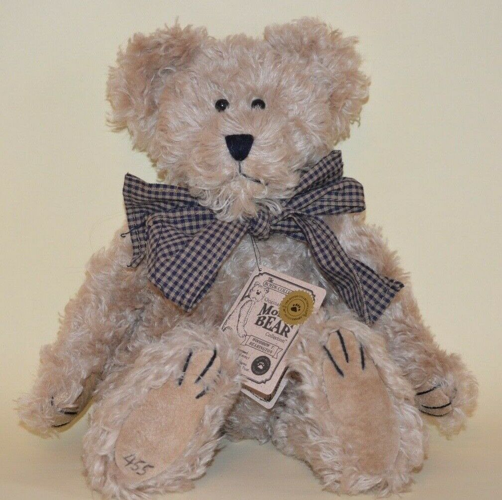 Boyds Collection Mohair Bear 12 inch WOODROW T BEARINGTON 1998