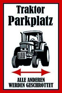Tracteur-Place-de-Parking-Pancarte-en-Tole-Signe-Metal-Voute-Etain-20-X-30-CM