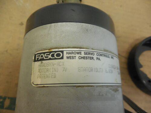FASCO HAROWE SERVO CONTROL ROTARY ENCODER HAROSYN-RCX 11BRCX-300-J-10 5000 HZ 7V