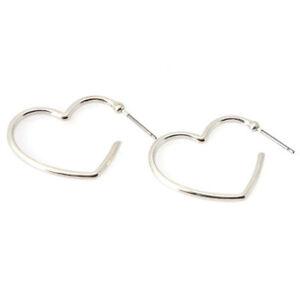 e0a3cdd20 316L SURGICAL STEEL LARGE HEART HOOP EARRINGS 25MM 1 PAIR UK SELLER ...