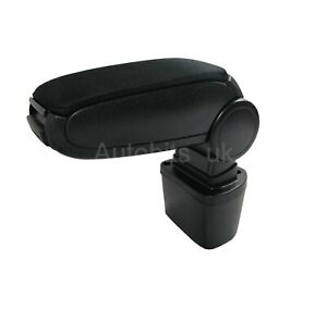 Black-Fabric-Cloth-Armrest-Center-Console-Fit-For-Nissan-Juke-2010-2019