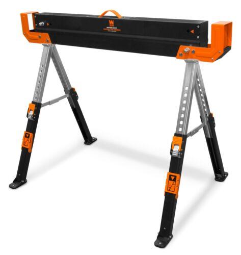 WEN WA1300 1300-Pound Capacity Height Adjustable Folding Steel Saw Horse