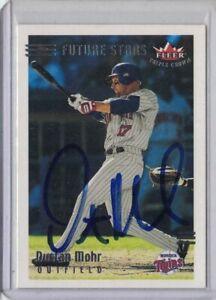 SIGNED 2002 Dustan Mohr Fleer #222 Baseball Card Autographed Minnesota Twins MLB