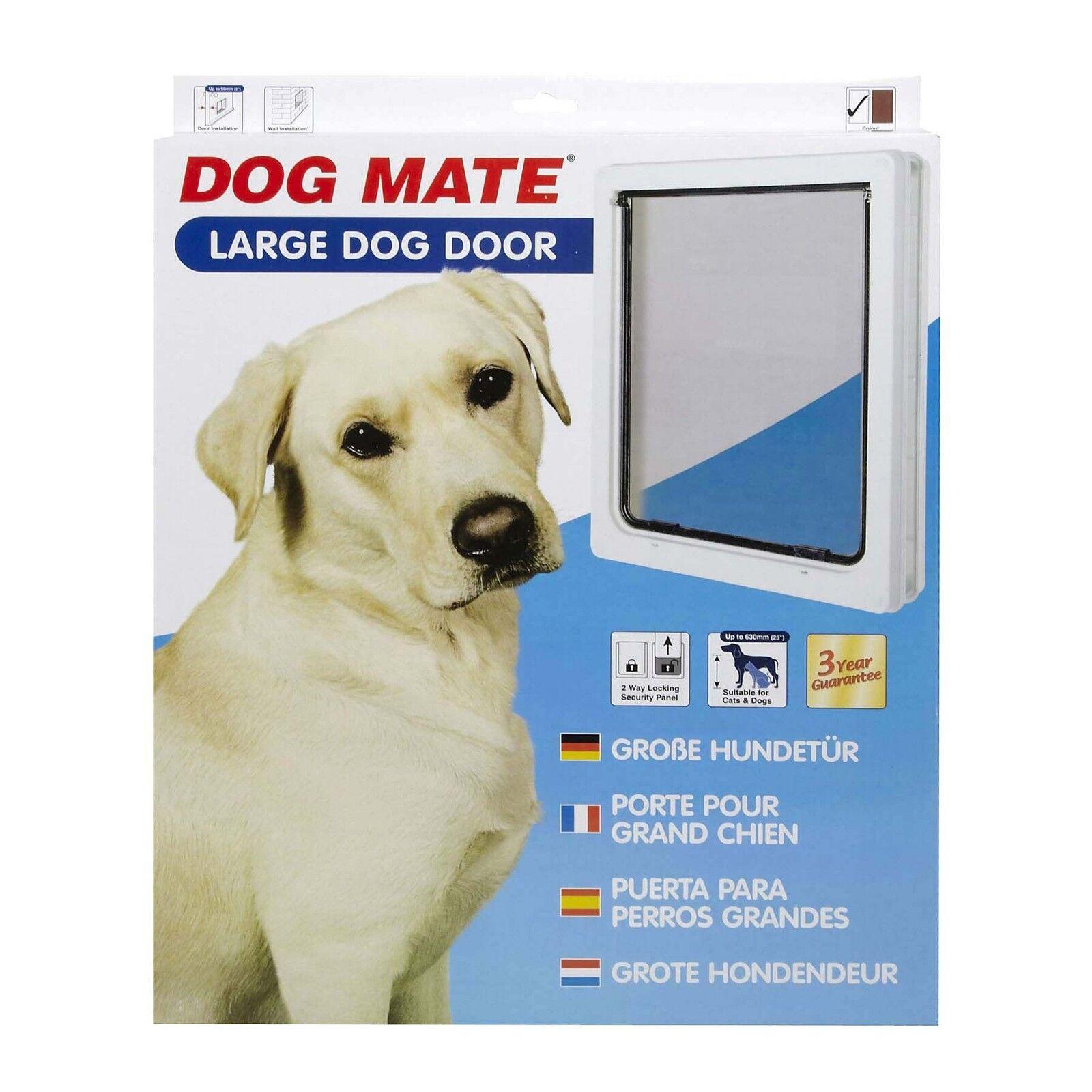 DOG Mate PET DOG DOOR Flap CANI GRANDI BIANCO 216 216W Flap dimensioni 34,5 x 29,5 cm