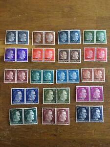 Nazi Germany UKRAINE overprint Third Reich Adolf Hitler stamps MNH 18 X Blocks