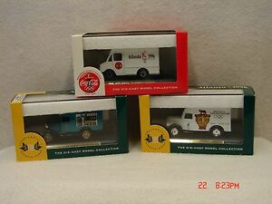 Three (3) Official Olympic Collectible Die Cast Trucks - Great Stocking Stuffer