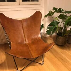 Handmade Home Decor Furniture Leather Butterfly Chair Sleeper Seat Relax Chair