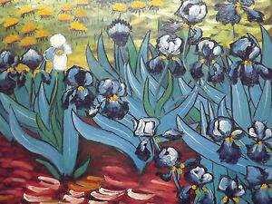 Vincent Van Gogh Irises Reproduction Large Oil Painting Canvas ...