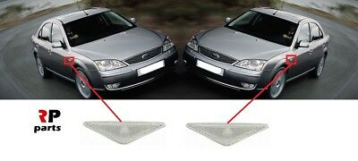 Ford Mondeo Mk3 2000-2007 Clear Lens Side Indicator Repeaters Pair Left /& Right