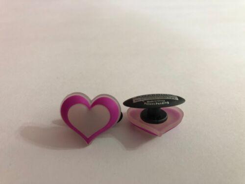 Pink Outlined Heart Shoe-Doodle For Rubber Shoes Crocs Shoe Charm PSC400P