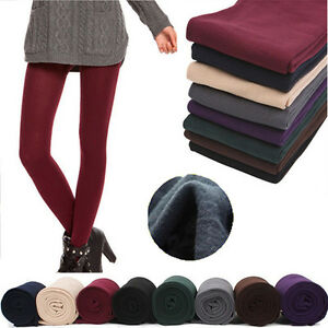Women-Ladies-Girls-Plain-Warm-Thick-Tights-Pantyhose-Stockings-One-Size