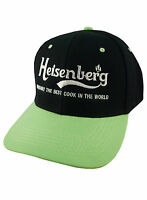 HEISENBERG BREAKING BAD INSPIRED SNAPBACK CAP BLACK AND GREEN BEST COOK HAT