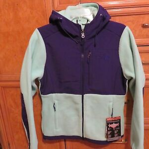 eae1a8c4ebfb Women s The North Face Denali hoodie green Purple jacket S brand new ...