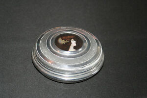 ancienne boite ronde poudre? aluminium ciselé poli médaillon femme fin XIX ème jRP3BUo9-07203303-426100995