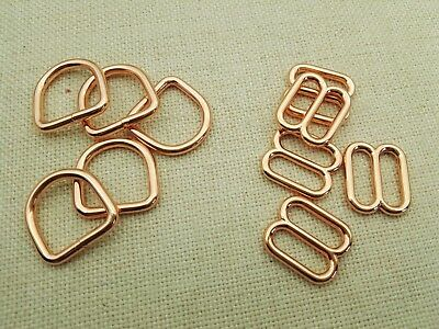 Welded D Ring 10-50x 1//2/'/' Gold Color Metal Round Triglides. 12.5mm