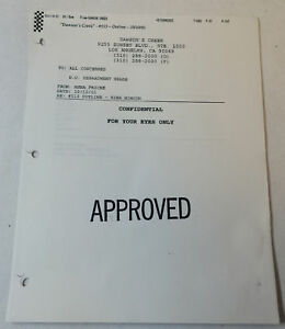DAWSON-039-S-CREEK-set-used-paperwork-ORIGINAL-STORY-OUTLINE-Season-5-Episode-13
