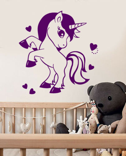 2661ig Vinyl Wall Decal Cartoon Pony Unicorn Fairy Tale Nursery Room Stickers