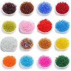 1000pcs 2mm Transparent Lot Colorful Glass Czech Seed Beads Jewelry Making Pick