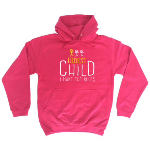 Funny Novelty Hoodie Hoody hooded Top Oldest Child 3 Make The Rules