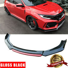 Gloss Black For 2013 2021 Honda Civic Sedan Hatchback Front Bumper Lip Spoiler Fits 2013 Honda Civic Si