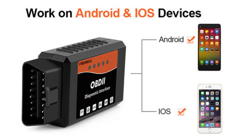 FOXWELL ELM327 OBD2 WiFi Car Diagnostic Scanner Tool iPhone Android Fits VOLVO