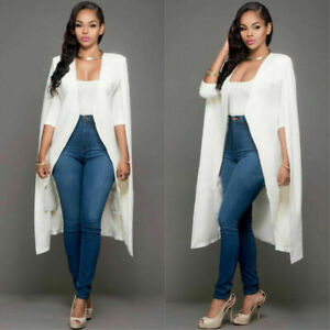 New-Fashion-Womens-Long-Cloak-Cape-Blazer-Suit-Coat-Jacket-Trench-Poncho-Outwear