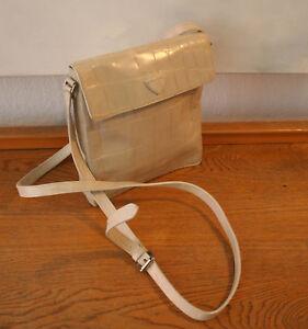 Joop Tasche Schone Vintage Handtasche Leder Mit Krokopragung Grau