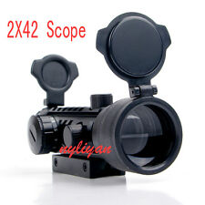 simmons red dot scope. tri rail 2x42 red/green dot scope sight 20mm picatinny mount for rifle hunting simmons red o