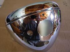 "Norton Commando , Triumph  BSA 7"" Chrome Headlight Shell / Bucket & rim stk168"