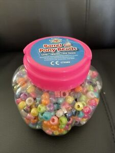 Creation Station 250 g Barrel of Pony Beads, Assorted Colours Approx. 1000