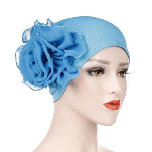 Women Flower Cancer Chemo Hat Muslim Hijab Hair Loss Head Scarf Turban Cap Lady