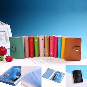 Men-Women-Leather-Credit-Card-Holder-Case-Card-Holder-Wallet-Business-Card