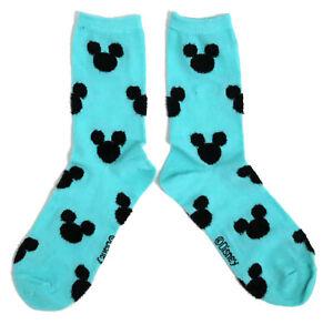 Kleidung & Accessoires Ladies Mickey Mouse Aqua Green Socks Uk Size 4-8 Eur 37-42 Us 6-10 Reinweiß Und LichtdurchläSsig
