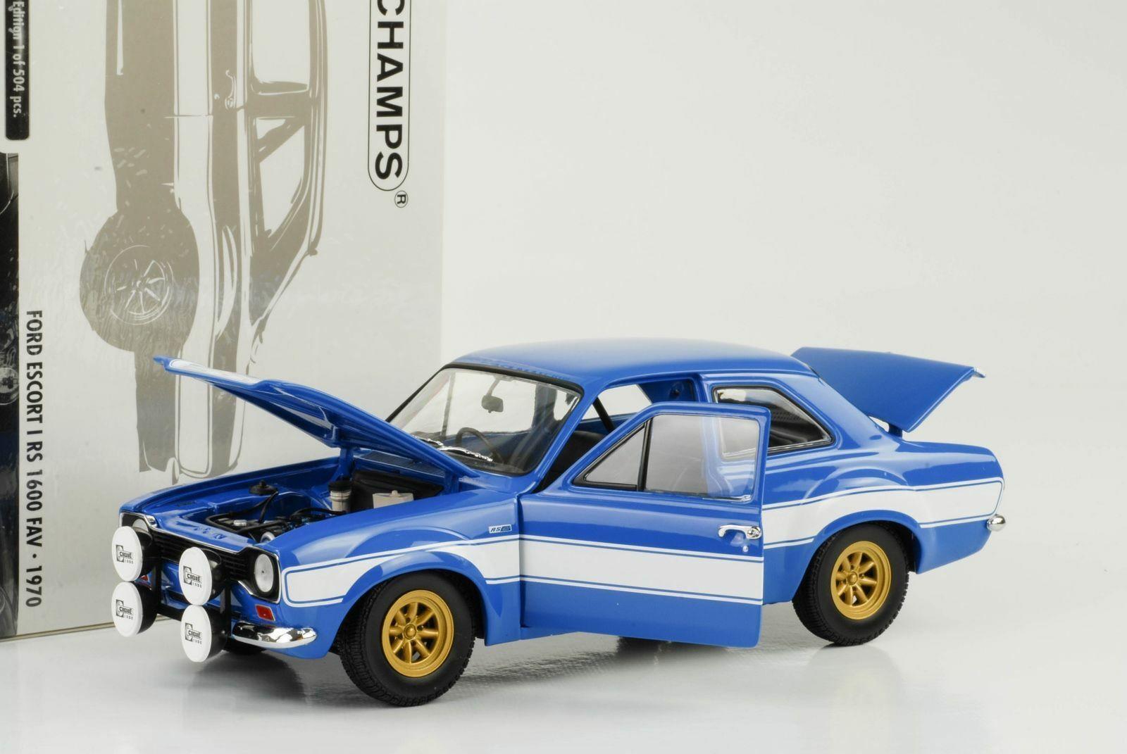minorista de fitness FORD ESCORT I RS 1600 FAV 1970 azul blanco blanco blanco MINICHAMPS 100688102 1 18 FAST FURIOUS  Todo en alta calidad y bajo precio.