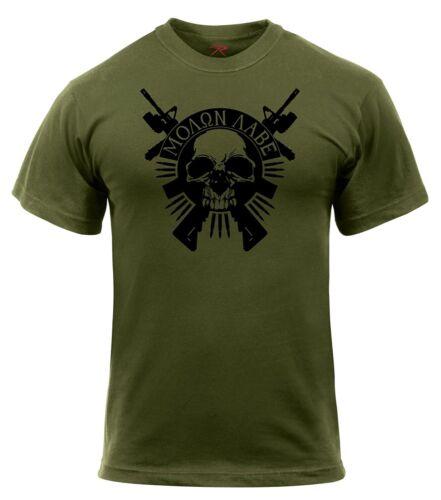 Olive Drab Rothco 2917 Molon Labe Skull T-Shirt