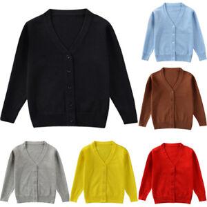 665949df0 Toddler Kids Baby Boy Girl Long Sleeve Knit Sweater Cardigan Jacket ...