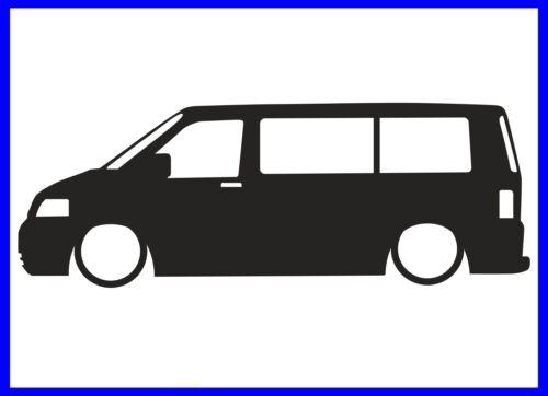VW T5 TRANSPORTER SILHOUETTE DECAL STICKER