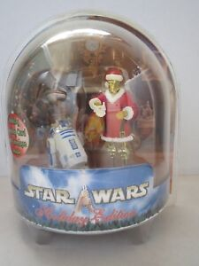 Amical New Hasbro 2002 Star Wars Holiday Edition Christmas R2-d2 Reindeer C-3po Santa Achat SpéCial