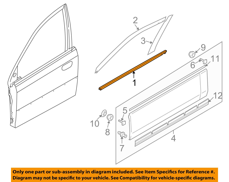 NEW Genuine Suzuki ALTO 2000-2006 Window Door Moulding REAR RIGHT 83831M79G01