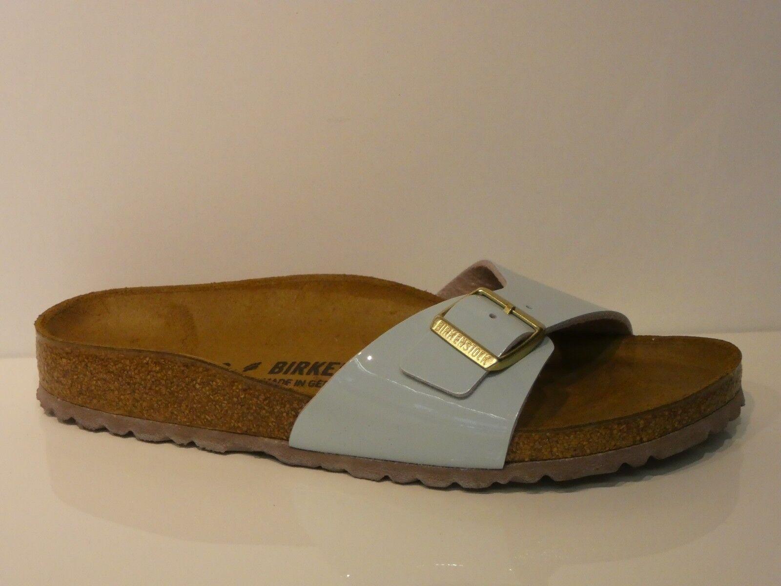 Birkenstock Damen Schuhe Pantoletten Sandale Madrid BS two tone water cream NEU