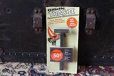 Rasoir Gillette GII NEUF d'époque Blister NOS 1976 Blanc Made in Canada TracII